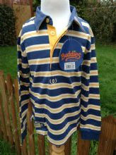 SHIRES BUDDIES RANGE OF CHILDRENS RIDER CLOTHING - BLUE RUGBY SHIRT -  SALE. XX